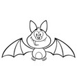 black and white happy vampire bat character vector image