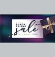 black friday sale banner vector image vector image