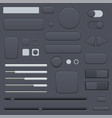 black interface buttons set vector image