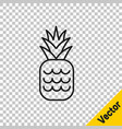 black line pineapple tropical fruit icon isolated vector image vector image