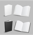 books on transparent background vector image vector image