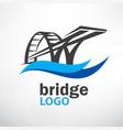 bridge symbol logo template vector image vector image