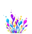 Bright rainbow colors paint splash vector image vector image