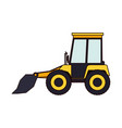 bulldozer flat icon colorful silhouette vector image vector image