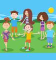 cartoon happy children or teenagers characters vector image