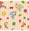children fairy pattern vector image