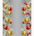 christmas border set vector image vector image
