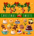 christmas sketch assembled with abundance of vector image vector image