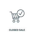 closed sale outline icon thin line concept vector image vector image
