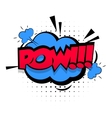 Comic sound effects pop art Lettering POW vector image
