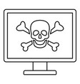 computer virus attack icon outline style vector image vector image