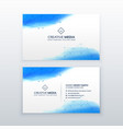 creative business card simple design template vector image vector image