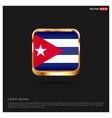 cuba flag design vector image