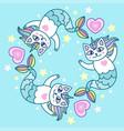 cute cat mermaid vector image vector image