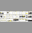 elements for presentation templates vector image