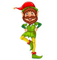 elf character on white background vector image vector image