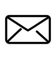 envelope message communication icon thick line vector image