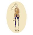 fashion-coat vector image
