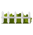 fence park with bush isolated icon vector image vector image