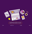 flat design baner template for online shopping vector image