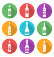 flat style white silhouettes alcohol bottles icons vector image vector image