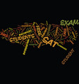 free sat exam text background word cloud concept vector image vector image