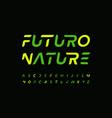 futuro alphabet letter font modern technology vector image