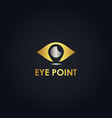 gold eye logo vector image