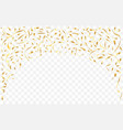 golden serpentine garland vector image