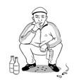 gopnik hooligan man coloring book vector image vector image