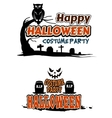 Halloween party themes vector image