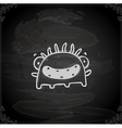 Hand Drawn Happy Monster vector image vector image