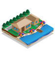 house on shore vector image vector image