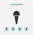 ice cream icon simple vector image