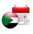 Icon of National Day in Sudan vector image vector image