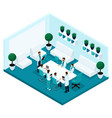 isometric cabinet hospital front view vector image