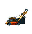 lawnmower mower lawn mower trimmer isolate vector image