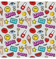 Lips Eyes and Jewelry Seamless Fashion Pattern vector image