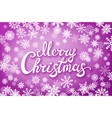 merry christmas typographical on shiny xmas vector image