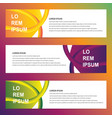modern trendy banners vector image vector image