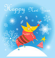 new year card with a yellow do vector image vector image
