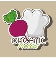 organic food chef hat vector image vector image