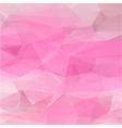 Polygon abstract texture in romantic pink colors vector image vector image