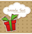 Present gift box with ribbon vector image vector image