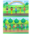 protect environment save earth posters with people vector image vector image
