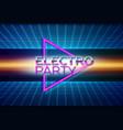 retro futuristic background 80s style vector image