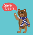 Save bears vector image vector image