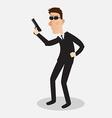 Secret service agent vector image vector image