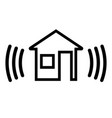 security alarm in the house vector image vector image