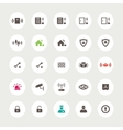Set of flat secure icons vector image